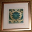 A24-Trio of Medallions, Blue/Green, Framed