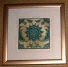 A24-Trio of Medallions, Blue/Green, Framed