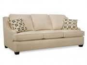 SF01-Sofa, Cream w/scoop arms