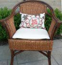 PT01-Woven Rattan Chair w/cushions