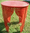 PT10-Metal outdoor side table, paprika