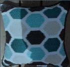 TC9900-Outdoor Toss Cushions, Hex Pattern