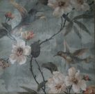 A14a-Hummingbirds & Flowers, Canvas (1 of 2)