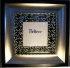 "A011-""Believe"" Silver/Black frame"