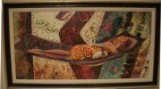 A16-Lady in hammock, Framed, LRG