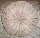 TC16-Toss Cushion, round, taupe, pleated