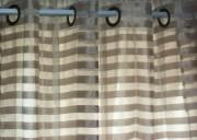 DRP06-Taupe Sheer, Horizontal Stripes