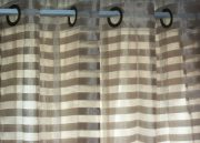 DRP06-Taupe Sheer, Horizontal Stripes