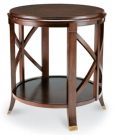 OT25-Side Table, Round with X-detail