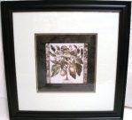 A46-Botanical Print, Black Framed, MED