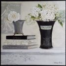 A44-Black & Grey Vases w/flowers