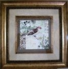 A47-Bird, Antique finish frame, 1 of 2