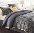 BK03-King, Comforter Set, Grey & Yellow