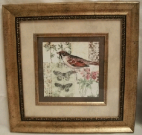 A47-Pr. of Vintage Birds, Gold frame