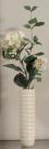 PL29-Ribbed Vase w/hydrangea stem