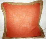 TC35-Orange Linen, w/burlap border