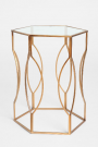 OT35-Hexagon Side Table, Gold Finish