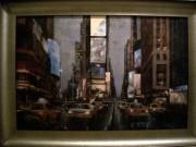 A88-N.Y. Street Scene, Silver Frame