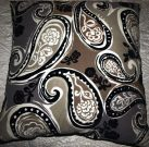 TC40-Toss Cushion, Large, Flocked Paisley