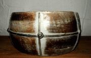 Bowl, Wood w/metal band, Lrg-Acc9902