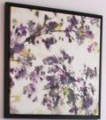 A91-Abstract, Purple Blossoms on canvas