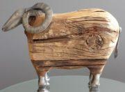 Decorative Ram, Wood & Metal-Acc96