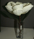 PL23-Single Silk Floral, Glass vase