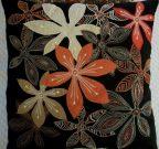 TC61-Floral, Black/Orange/Taupe