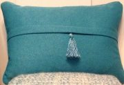 TC81-Teal, Toss Cushion with Tassle
