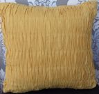 TC88-Toss Cushion, Yellow, Pleated