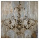 A117b-Chandelier with pearls, Canvas, MED