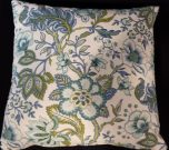 TC92-Blue & Green, Floral Pattern