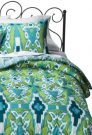 BT10-Twin Comforter Set, Blue & Green Ikat