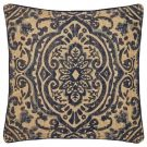 TC95-Navy & Burlap, Medallion Pattern