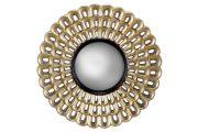 M33-Mirror, Round, Champagne & Black