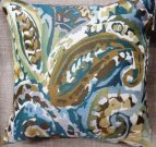 TC104-Toss Cushion, Blue/Green/Brown