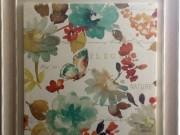A136-Spring Fleur, White Washed Frame, LRG