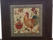 A138a-French Rooster Collection, Distressed Frame