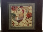 A138b-French Rooster Collection, Distressed Frame