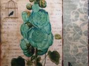 A140a-Victorian Botanical, Teal/Blue/Green
