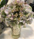 PL41b-Mauve Roses, Mercury Glass vase