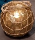 Ball, Decorative, Gold/Rope Acc9938
