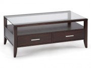 OT09-Baker, Wood & Glass Coffee Table