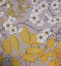 A01c-Grey & Yellow  Blossoms, canvas