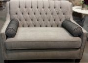SF12a-Loveseat, Silver Grey, Tufted