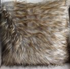 TC63a-Blonde/Grey Faux Fur Toss Cushion
