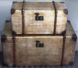 OT45-Pr. of Chests, Gold Distressed Finish