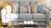 SF22-Sofa Bluish /Grey, Condo