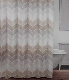 SC13 Shower Curtain Beige Grey The Rental Dept
