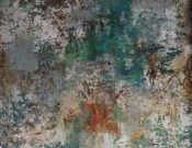 A96a-Large Canvas, Multi Blue/Green/Rust